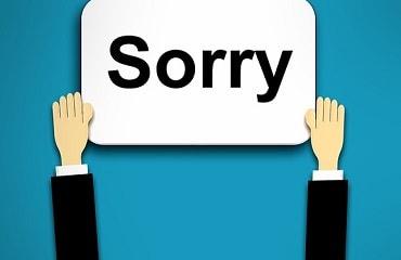 謝罪をする
