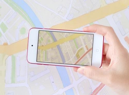 スマホの地図アプリを使う